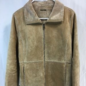 VTG Guess Womens Small Leather Suede Sherpa Lined